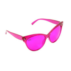 Rainbow OPTX Cat Eyes Glasses Magenta